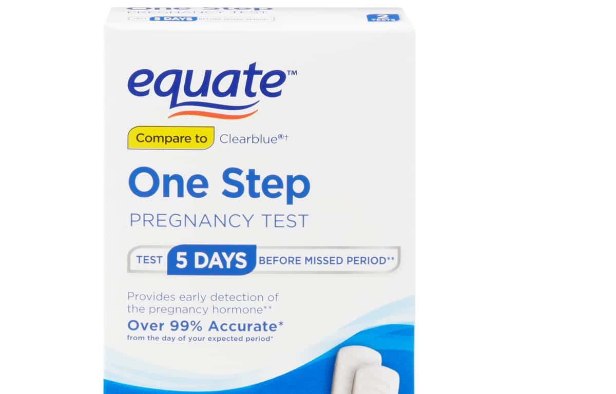 Equate +/- Pregnancy Test