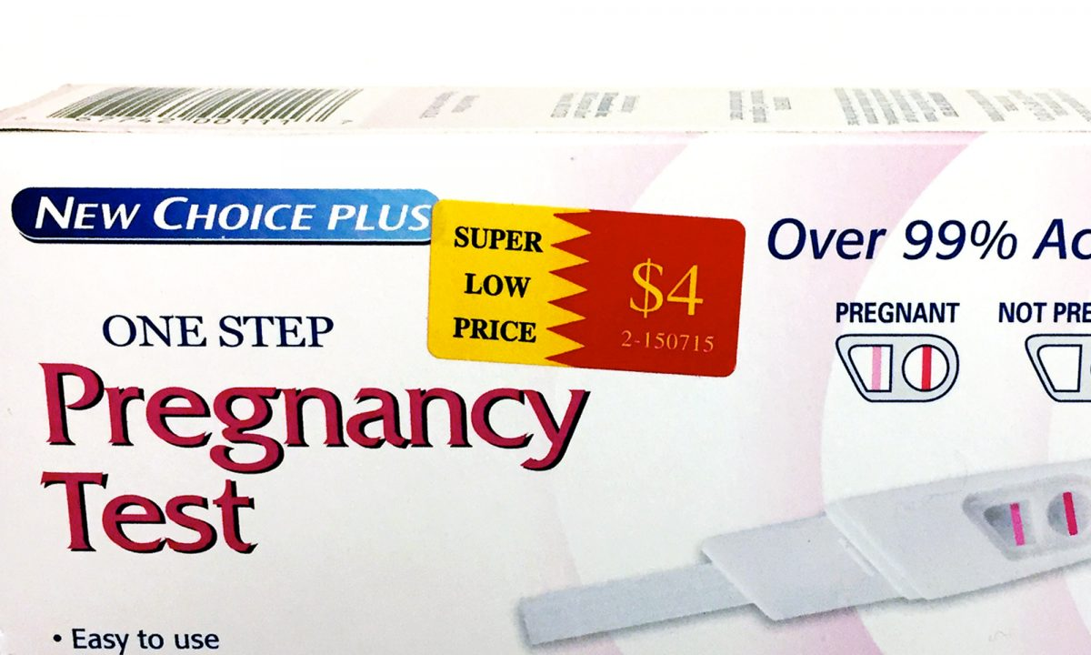 How much does the New Choice Plus One Step Pregnancy Test cost?