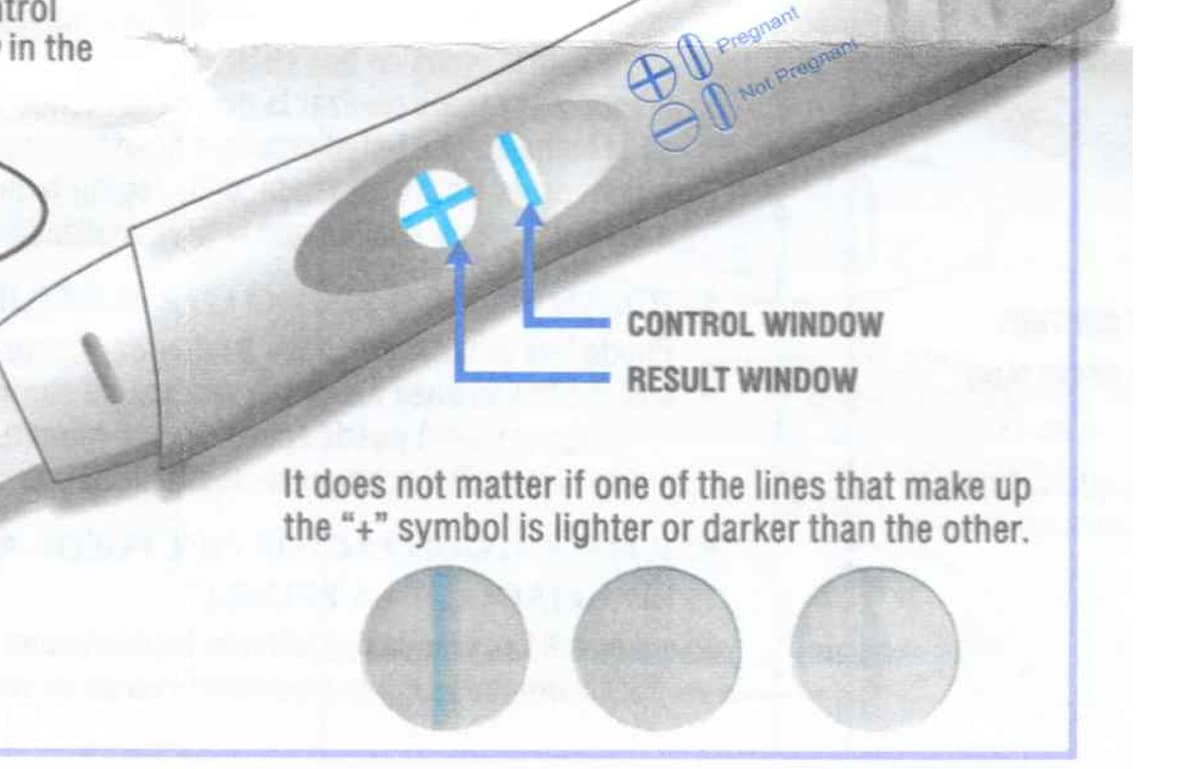 Rexall Pregnancy Test Faint Control Line