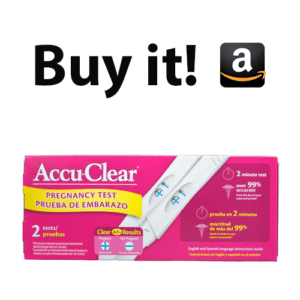 Buy the Accu Clear pregnancy Test