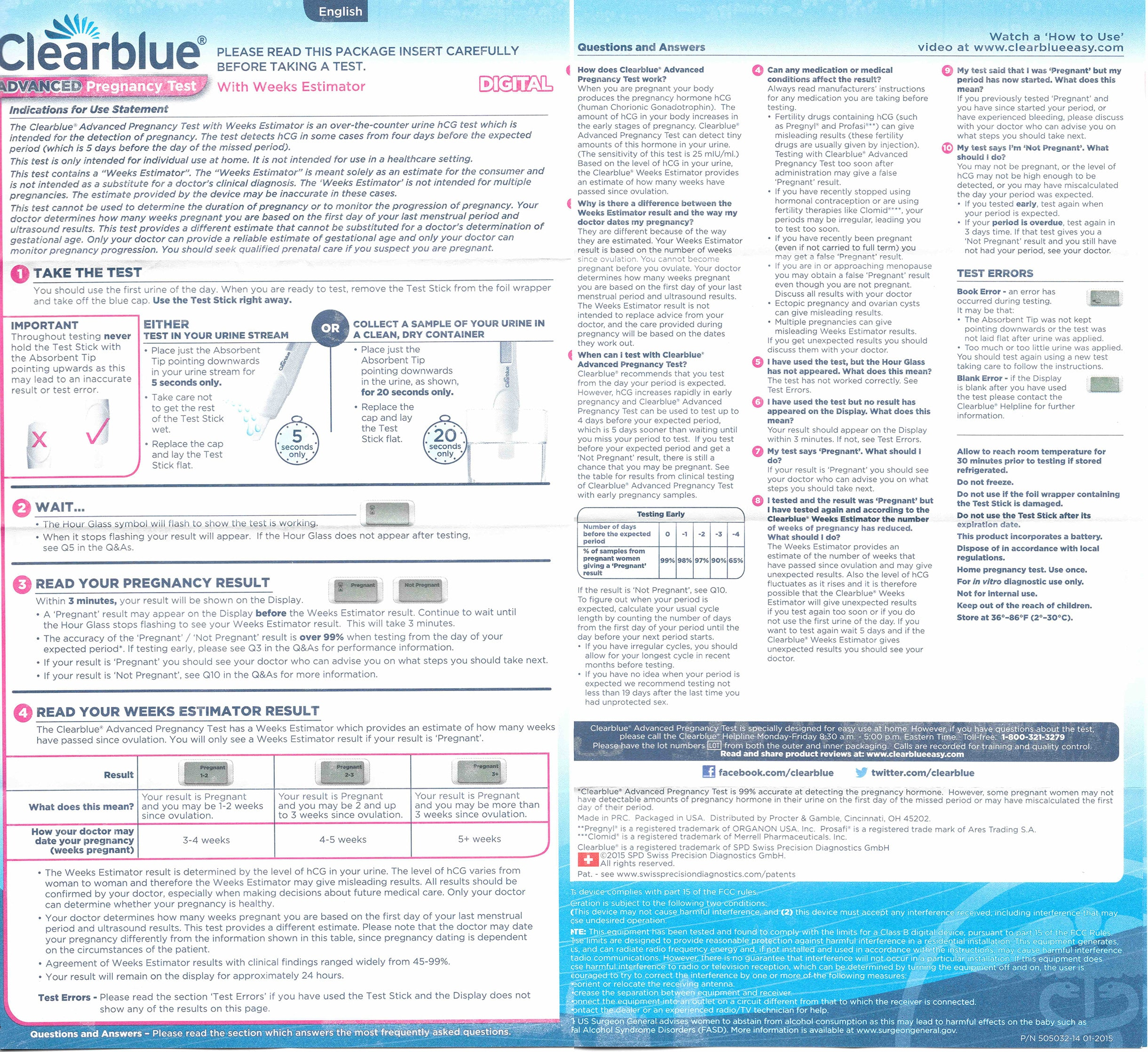 Clearblue Pregnancy Test Instructions In