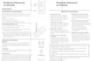 DG Health Pregnancy Test Directions in Spanish