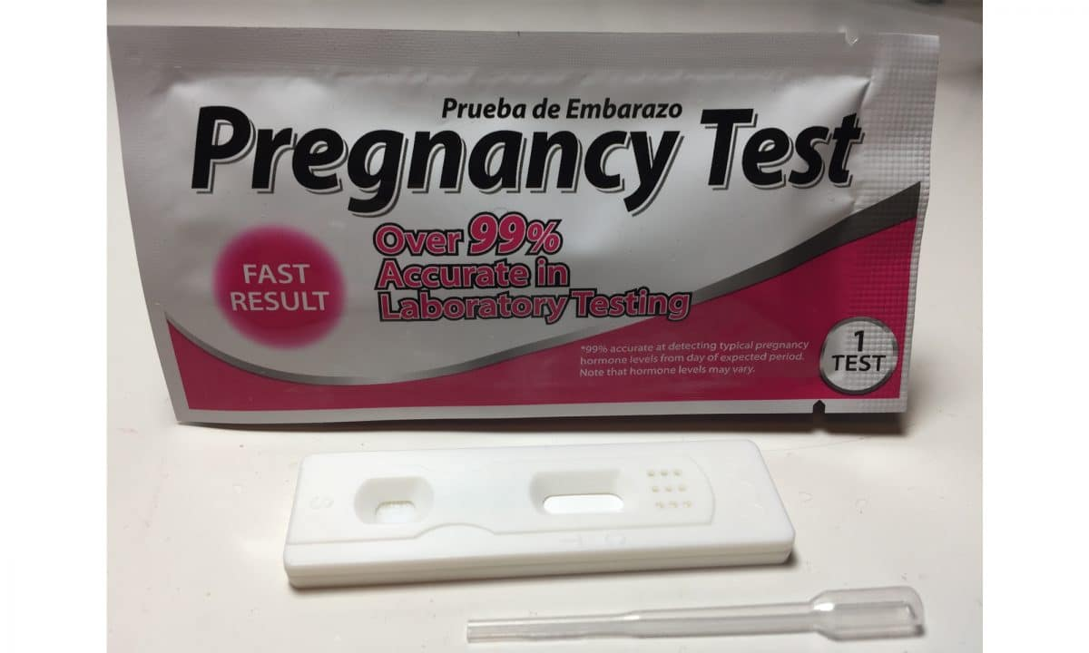 Para-Aid Pregnancy Test packet contents