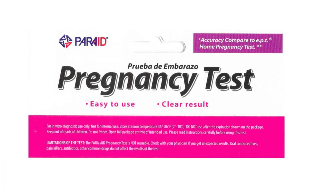 paraid pregnancy test faint line